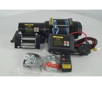 Лебедка электрическая 12V Electric Winch 4500lbs Съемный блок управления, синтетический трос.